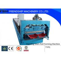 Wholesale 16 Steps Concealed Standing Seam Roll Forming Machine , Concealed , 3 Phase With Blade Cr12 from china suppliers
