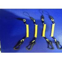 Wholesale 3.0 mm Phone Holde Hand Tool Lanyards Yellow Coating With POM Swivel Hook And Clips from china suppliers