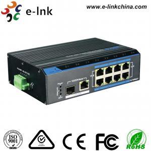 China Rugged Ethernet POE Switch 1x10/100/1000M RJ45 + 1x1000M SFP Uplink , 8x10/100M on sale