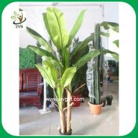 Uvg plt01 plastic banana leaves artificial plants and for Artificial banana leaves decoration
