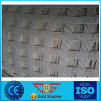 Wholesale 400 kn/M High Intensity Warp Knitting Polyester/ Pet Geogrid Reinforcing Fabric from china suppliers