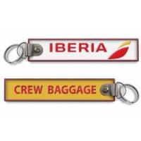 Wholesale Iberia Logo Crew Baggage Personalized Embroidered Key Chains 140x30mm 100pcs lot from china suppliers