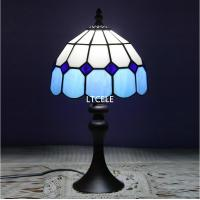Wholesale Tiffany Style Table Lamp With Flowers And Leaves Patterns With Stained Glass lamparas de mesa For table decor abajur par from china suppliers