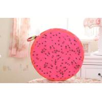Wholesale Cute Watermelon / orangesoft plush fabric round shape fruit pillow Cushions 35CM from china suppliers