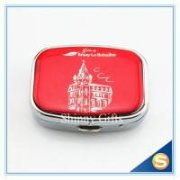 Wholesale Zinc Alloy Custom Lockable metal pill box Traveling Promotional Gifts Square Shape from china suppliers