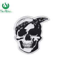 Wholesale Laser Cut Durable Black And White Motorcycle Patches Customized Size from china suppliers