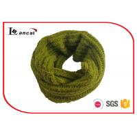 Wholesale Single Layer Yellow Green Knitted Scarf , Warm Knitted Neck Scarf For Women from china suppliers