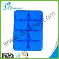 Wholesale High Quality Blue Color 8-Butterfly Shaped Silicone Baking Cake Mold Puddings Mould from china suppliers