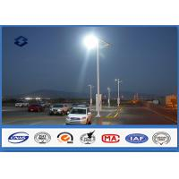 Wholesale Single / Double arm galvanized light pole 20 W- 400 W Lamp Power Square Light post from china suppliers