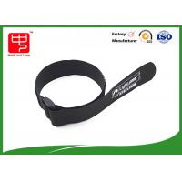 Wholesale Black hook and loop strap one side sticky backed hook and loop , 100% nylon cable ties with buckle from china suppliers