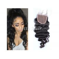 Wholesale Brazilian Loose Wave Lace Closure Natural Hair with No Shedding No Tangle from china suppliers