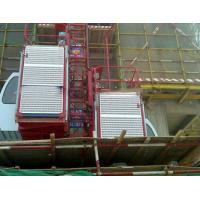 Buy cheap 0-33m/min construction elevator / building lift  with rack and mast section from wholesalers