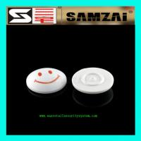 Wholesale EAS RF Hard Tag Security Alarm System Smile Face EAS Hard Tag White/grey/black 45*16mm from china suppliers