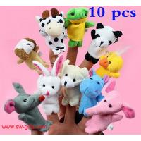Wholesale Cartoon Biological Animal Finger Puppet Plush Toys Child Baby Favor Dolls Christmas Gifts from china suppliers