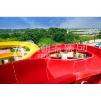 Quality Fun Outdoor Adult Fiberglass Water Slides CE , Customized Length for Water Park for sale