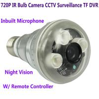 Wholesale 720P IR Night Vision LED Array Bulb Camcorder CCTV Surveillance DVR Camera Remote Control from china suppliers