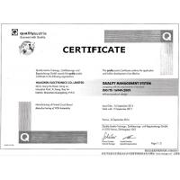 Huaswin Electronics Co.,Limited Certifications