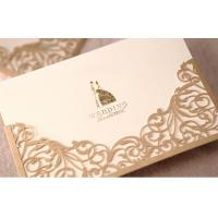 China Golden Blank Greeting Cards ROHS , Musical Greeting Cards Hot Stamping on sale