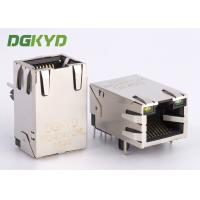 Wholesale 10/100 Base single port 6P8C RJ45 modular jack ethernet connector with lan filter from china suppliers