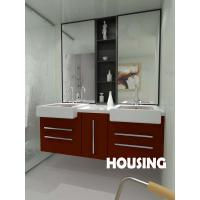 Wholesale Red Modern Bathroom Cabinets Vanities High Gross For House from china suppliers