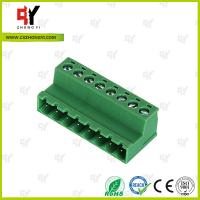 Wholesale PA66 and Copper Connector Terminal Block HQ2TBKR 5.0 / 5.08 Spacing from china suppliers