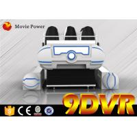 Quality Game Center 10CBM 6.0KW 9D VR Cinema With Leg Sweep / Vibration Effects for sale