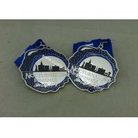 Wholesale Customized Silver Hard Enamel Medal With Zinc Alloy , Die Struck Medal For Running Sport from china suppliers