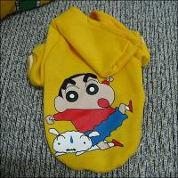 Wholesale Crayon Shinchan Yellow Large / Small Personalized Dog Hooded Sweatshirts from china suppliers
