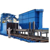 Wholesale Continuous Belt Blast Wheel Cleaning Machine , Shot Peening Machines For Steel Plate from china suppliers