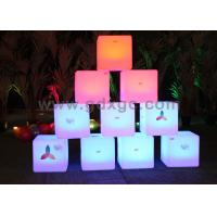 Wholesale Waterproof LED ottoman cube Glow Chair with huge capacity rechargeable lithium battery from china suppliers