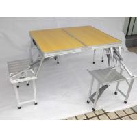 Wholesale Sandal Wood Folding Camping Table And Chairs Pack Into Suitcase Custom Size from china suppliers