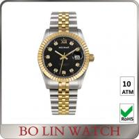 Wholesale Charm Swiss Movt. 18K Solid Gold Watches For Aidult Mineral / Sapphire Glass from china suppliers
