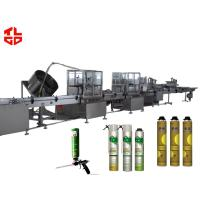 Wholesale High Speed Aerosol PU Foam Filling Machine Straw Type 3000-4500cans/day from china suppliers