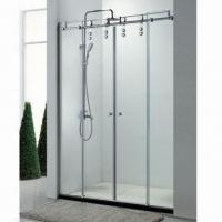Wholesale Screen Type Door Shower Room, 45mm Chassis Height, 8 and 10mm Glass Thickness, Made of SS304 from china suppliers