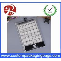 Wholesale Underwear Packaging Pvc Hook Bag , Promotion Pvc Clear Bag Water Resistant from china suppliers
