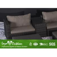 Outdoor Balcony Patio Seating Sets Double Rattan Sofa Commercial Patio Furniture