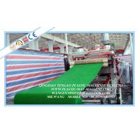 Quality Plastic Grass Mat Floor Machinery Plant , LDPE Turf Mat Production Line for sale