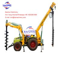China Custom Made Tractor Post Hole Borer , Large Post Hole Digger For Kubota Tractor on sale