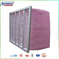 Wholesale F7 Multi Pocket Air Filters Synthetic Fiber Secondary Ventilation Pink from china suppliers