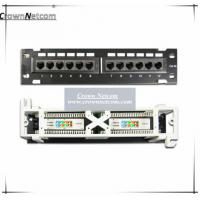 Wholesale Network 10 inch mini patch panel Cat5e 12ports patch panel wall mount & rack mount Fluke from china suppliers