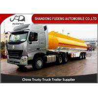 Wholesale 5mm , 6mm Thickness Fuel Tanker Semi Trailer Optional Compartment / Dimension from china suppliers