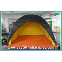 Wholesale Durable Inflatable Camping Tent Black Outside Yellow Inside Customized from china suppliers