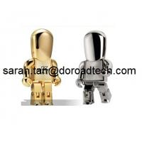 Wholesale Free Sample Low Price Wholesale Real Capacity Metal Golden Robot USB Flash Drives from china suppliers