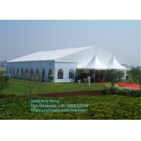 Quality Hexagonal Outdoor Event Tents , Aluminum Frame Backyard Party Tent With Clear Window for sale