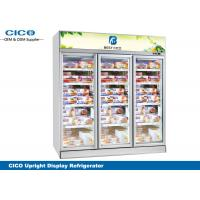 Quality Integrated Upright Display Refrigerator , Upright Glass Door Refrigerator for sale
