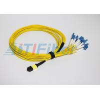 Wholesale 12 Core MPO to LC Fiber Optic Patch Cord , Singlemode Fiber Patch Cable from china suppliers