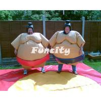 Wholesale PVC Inflatable Sport Games , 1.2m / 1.5m Orange / Yellow Kids Sumo Suit from china suppliers