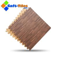 Wholesale Dark Wood effect interlocking floor tiles Europe popular from china suppliers