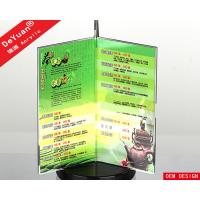 Wholesale Tabletop Rotate Acrylic Menu Holder / Desktop Price Stand T shape from china suppliers