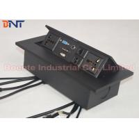 Wholesale Square Corner Desk Pop Up Sockets with Bottom Conection Cable length 30 ~ 50 cm from china suppliers